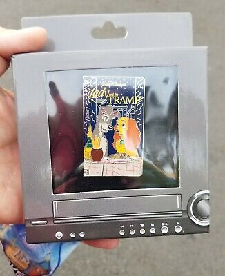 Disney Parks lady and the tramp VHS tape pin LE