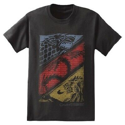 Game Of Thrones STARK TARGARYEN LANNISTER HOUSES T-Shirt NWT