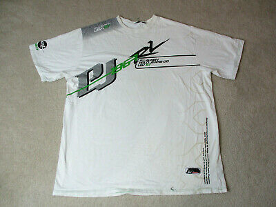 VINTAGE Ralph Lauren Polo Jeans Shirt Adult 3XL XXXL White Green Spell Out 90s *