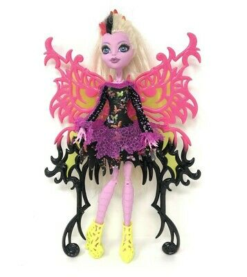 Monster High Doll Bonita Femur Freaky Fusion Wings Dress Shoes Hair Clip