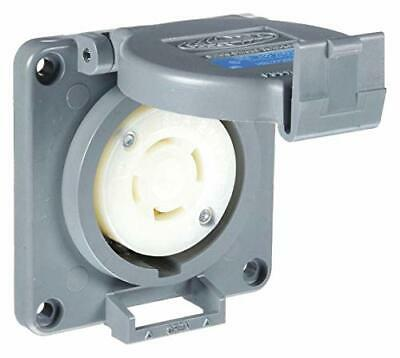 Hubbell Wiring Devices -Hbl2720Sw -Conn, Mains Rcpt, 3P4W, 30A 3Ph 250V, L15-30R