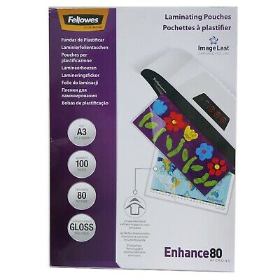 FELLOWES A3 80 Micron Laminating Pouches Pack of 100