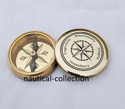 Brass Survey Compass Available In 2 Inch Size Poem