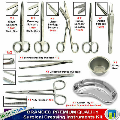 Medentra® Pro Medical Dressing Operating First Aid Nursing Surgical Instruments
