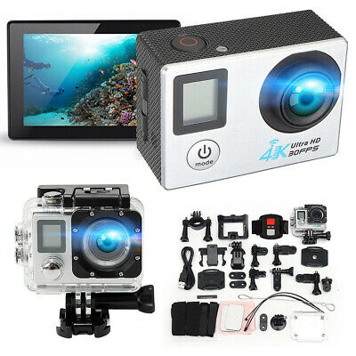 PRO Cam WiFi 4K 16MP 2.0'' LCD Dual-Screen Sport Action Camera Remote~Control