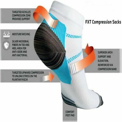 AU Plantar Fasciitis Foot Pain Relief Sleeves Heel Ankle Sox Compression Socks-