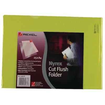 Rexel Nyrex A4 Yellow Cut Flush Folder (Pack of 25) 12161YE [RX12161Y]