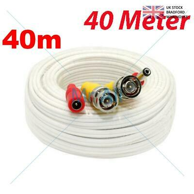 40mMETRE PRE-MADE SIAMESE CABLE CCTV BNC VIDEO AND DC POWER CABLE W 40M