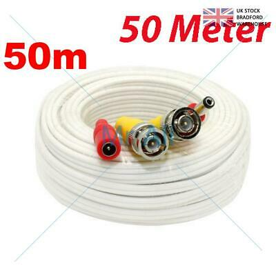 50mMETRE PRE-MADE SIAMESE CABLE CCTV BNC VIDEO AND DC POWER CABLE W 50M