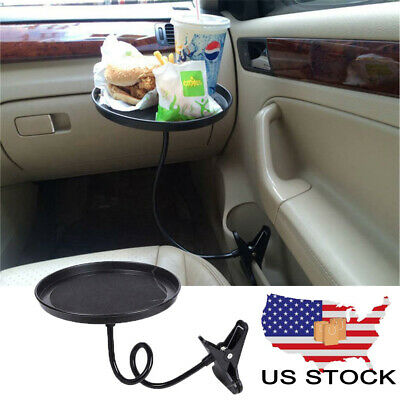 Car 360° Swivel Mount Holder Travel Drink Coffee Table Stand Food Tray Universal