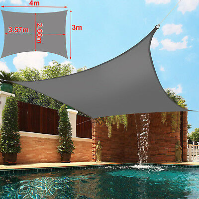 Sun Shade Sail Canopy Patio Garden Awning Shelter  Outdoor w/ Free Rope 3 Sizes