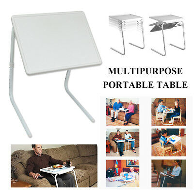Adjustable Foldable Table Laptop Tray Bed Portable Desk Mate TV Breakfast Dinner