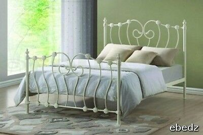 4FT Inova Time Living Ivory Victorian style bed frame. FREE NEXT DAY DELIVERY