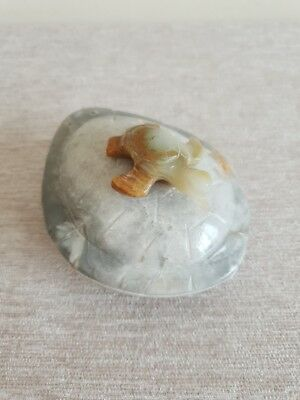 ✿ Unusual small gemstone box with Turtle ✿