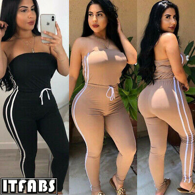 Women Jumpsuit Romper Bodycon Playsuit Clubwear Long Trousers Party US Pants
