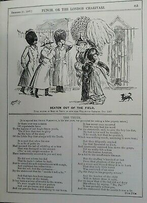 1907 CARTOONS : BEATEN OUT OF THE FIELD by D MACPHERSON- LIFE'S LITTLE ANOMALIES