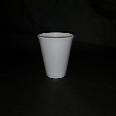 100x Polystyrene Insulated Disposable Foam Cups Takeaway Hot Drink 10oz