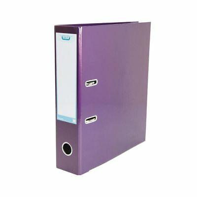 Elba Classy 70mm Metallic Purple A4 Lever Arch File 400021021 [BX01444]