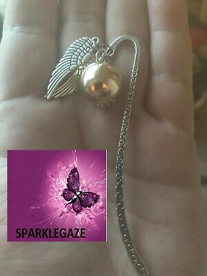 Brand New 2019 Harry Potter Golden Snitch Silver Metal Bookmark Aus Seller