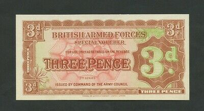 BRITISH ARMED FORCES 3d  1948-59 2nd series  About Uncirculated  Banknotes