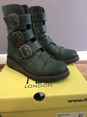 7dab02b1da5 Fly London 4 SCOP110FLY Boots In Petrol Green Leather. Only worn twice