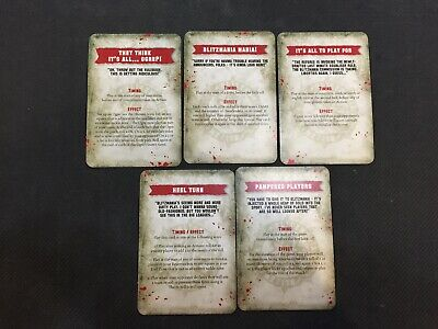 Games Workshop Warhammer Blood Bowl Blitzmania Special Play Cards / Promo Cards