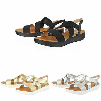 Womens Platform Summer Sandals Open Toe Comfy Strappy Shoes Size