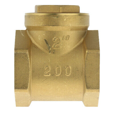 DN40 One Way Swing Check Valve, Female Thread, Brass Material - 1.5 Inch