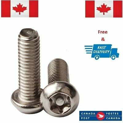 2x Button Post Torx M5 x 8mm Stainless Steel T30 Security Screw Tamperproof 304