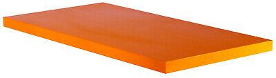 "ABS Plastic Bar Stock (Orange) 1"" x 12"" x 24"" for Machining"