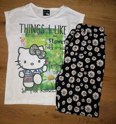 Hello Kitty Top Age 7-8 Years And Trousers Age 8-9 Years