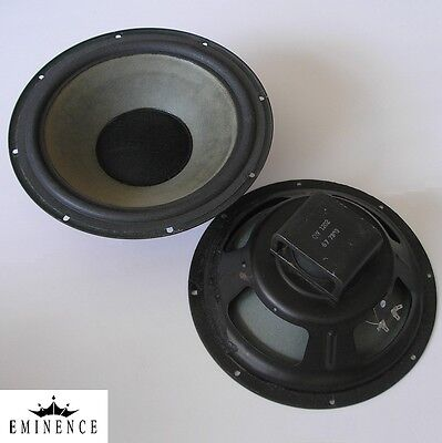 """pair EMINENCE 12"""" Alnico woofers, mfd. 1973—refurbished with new foam surrounds"""