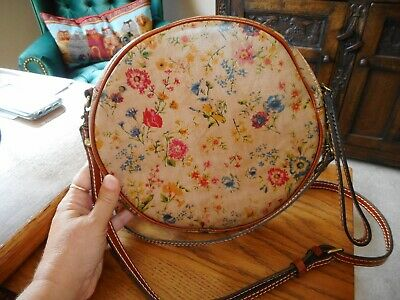 Excellent Condition Patricia Nash Capaci Round Crossbody in Prairie Rose