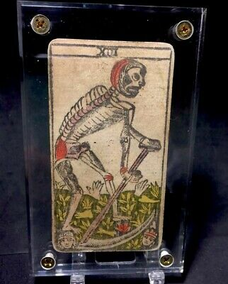 Authentic Marseilles Historic Antique Tarot Playing Cards Arcana Death Single