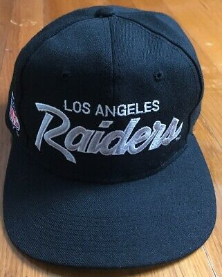 86639100a3f758 VINTAGE LOS ANGELES Raiders Sports Specialties Snapback Hat NWA ...