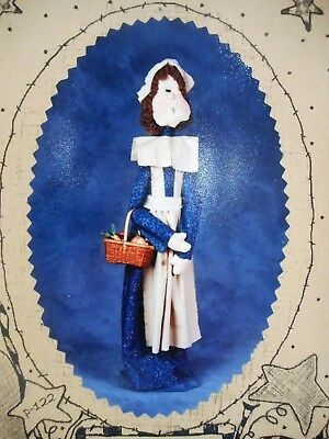 """🍂 Fall Country Primitive Colonial Pilgrim Woman Cloth Doll Sewing Pattern 28"""""""