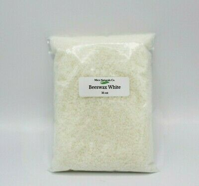 Beeswax White Pastilles Organic 100% pure from 4 oz to 8 lb by Mico Naturals
