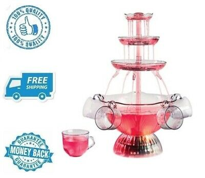 New Clear Soft Drink Dispenser Lighted Party Fountain Beer Beverage Container
