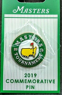 OFFICIAL MASTERS AUGUSTA NATIONAL PGA GOLF LAPEL PIN DATED 2019 PIN Tiger Woods