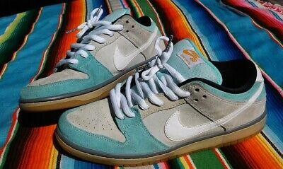 brand new 242ad 97e5f Nike Sb Dunk Low Pro Gulf Of Mexico Glacier Ice Blue Green Ash Grey Diamond  10