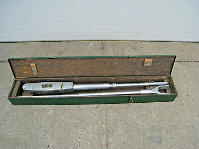 "James R. Kearney 20426 Size 5 1"" Drive 300-2000 Ft-Lb Torque Wrench w/ Case Used"