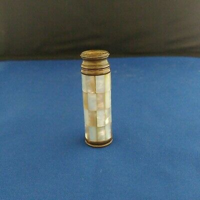 Antique French LE KID mother of pearl abalone Perfume bottle Atomizer spray