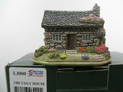 """Lilliput Lane Collectible Cottages L3000 """"The Ugly House"""" MIB with deed."""