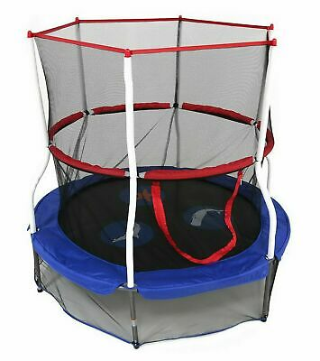 "60"" Round Kids Trampoline with Safety Walls Net Indoor Outdoor SBT60.2 []"