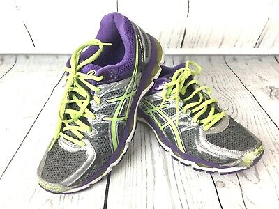 the best attitude ba9d7 c17ae Asics Gel-Kayano 21 Womens Running Shoes Size 9 Purple Green Silver Athletic