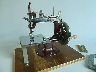 Vintage Essex Miniature Sewing Machine, Original Case & Instruction Book