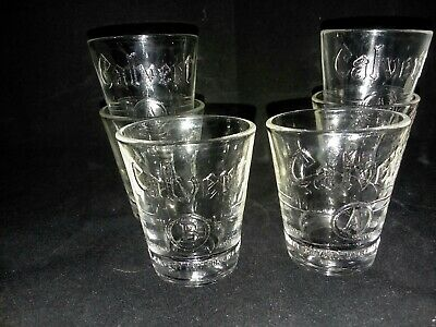 6 Calvert Dist Corp Shot Glasses 1 and Half Ounce NY Blended Whiskey Natural