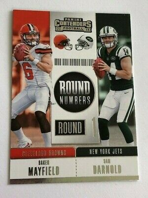 2018 Panini Contenders Baker Mayfield Sam Darnold Round Numbers RC