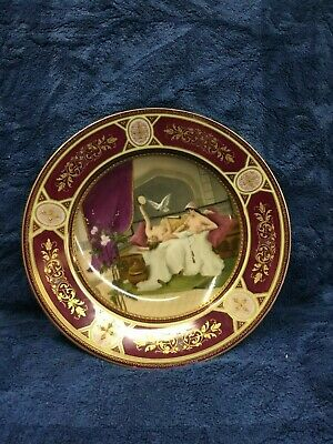 Antique Royal Vienna Cabinet Plate Signed WEIN with Beehive Mark