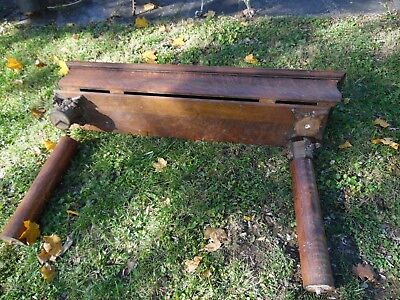 Antique Tiger Oak Fireplace Mantle Architectural Salvage, sold for parts only